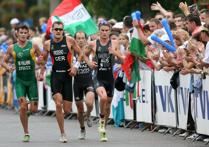 Joelle Franzmann wins the 2006 Tiszaujvaros BG Triathlon World Cup
