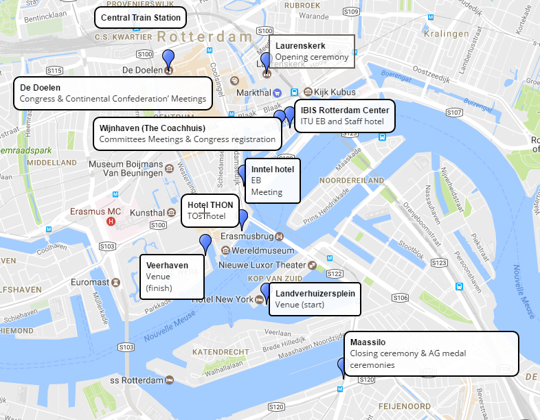 2017 ITU Congress Rotterdam: Map | Triathlon.org