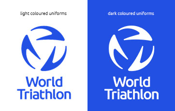 World Triathlon stacked uniform logo examples