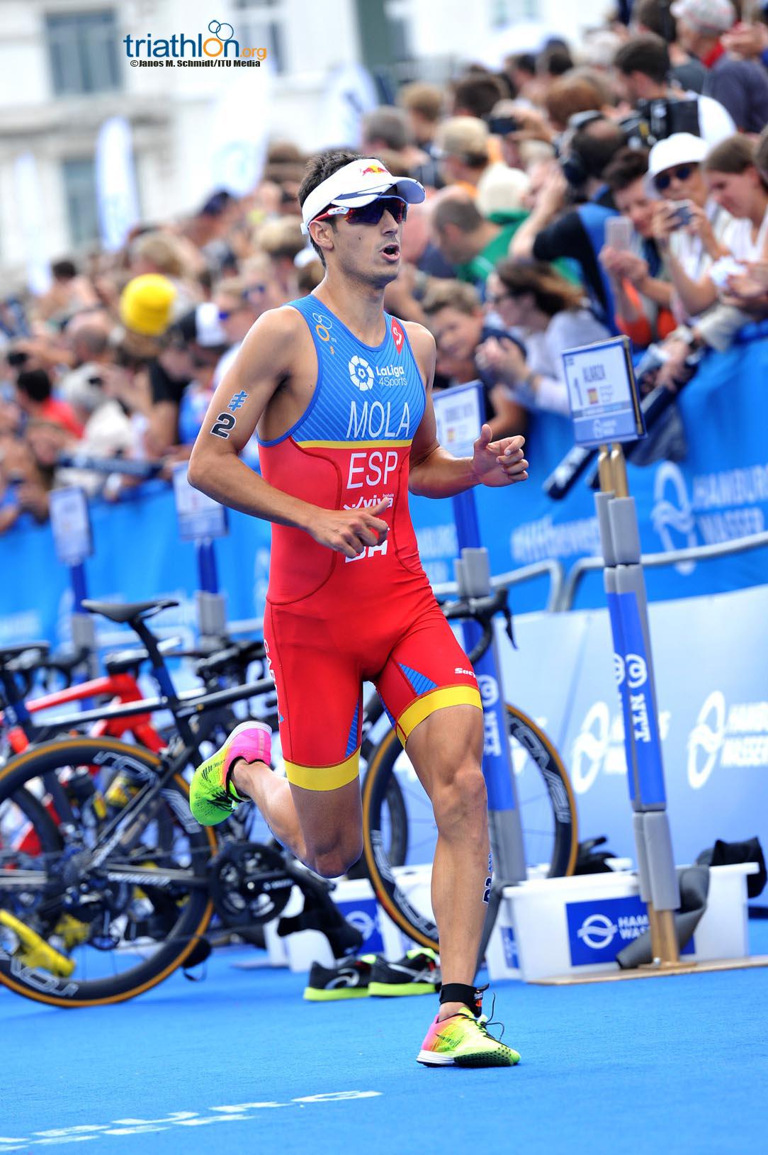 Mario Mola running in Hamburg
