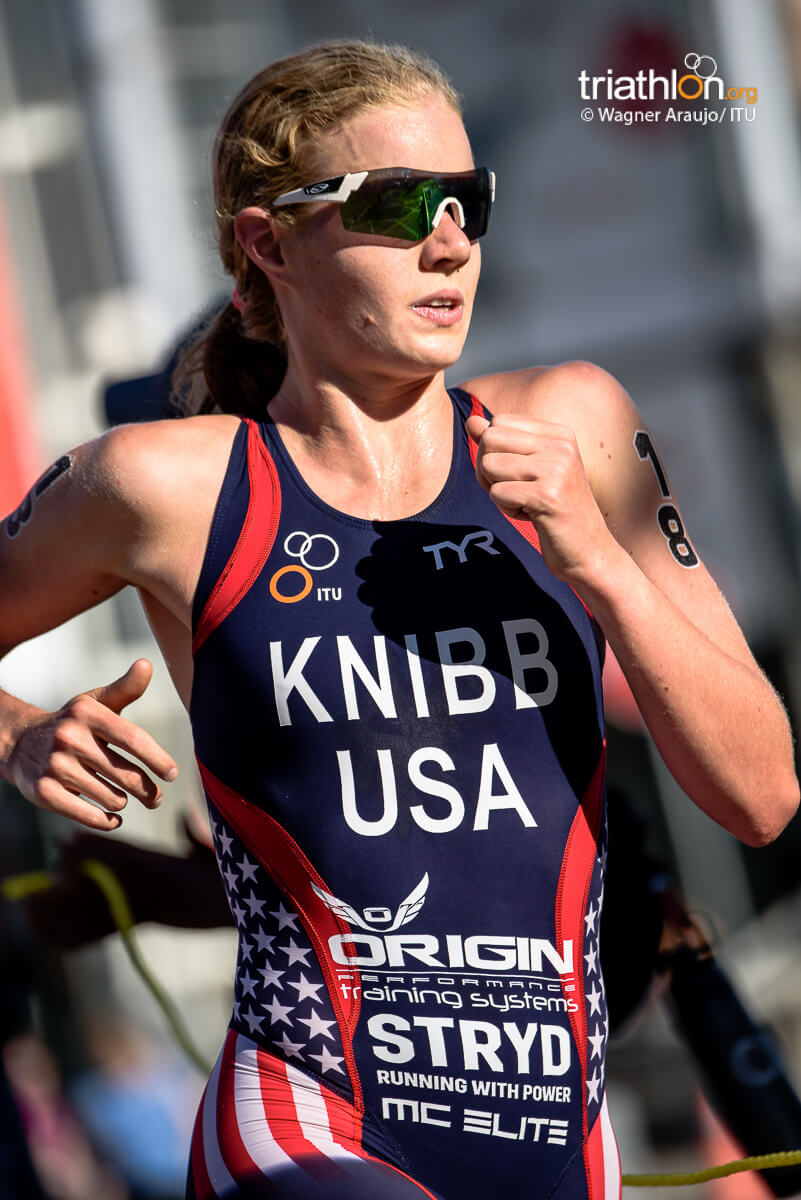 Taylor Knibbs running in Montreal