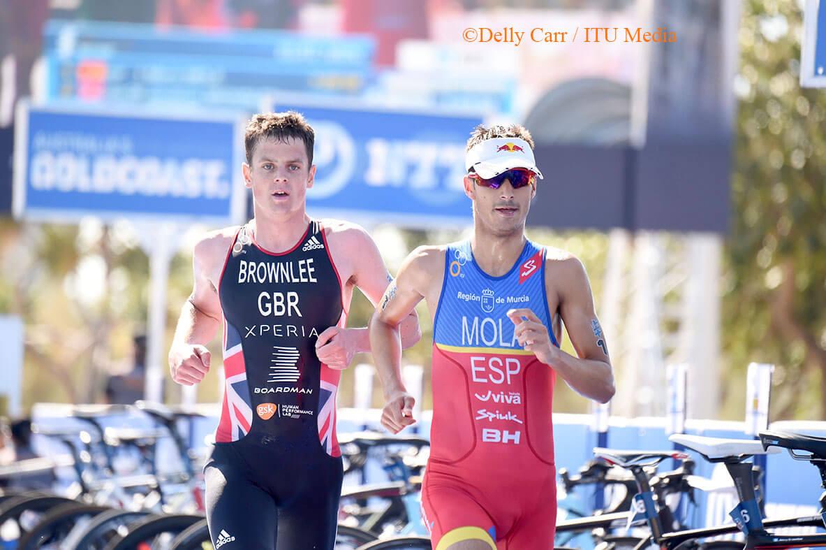 Mario Mola running in Gold Coast