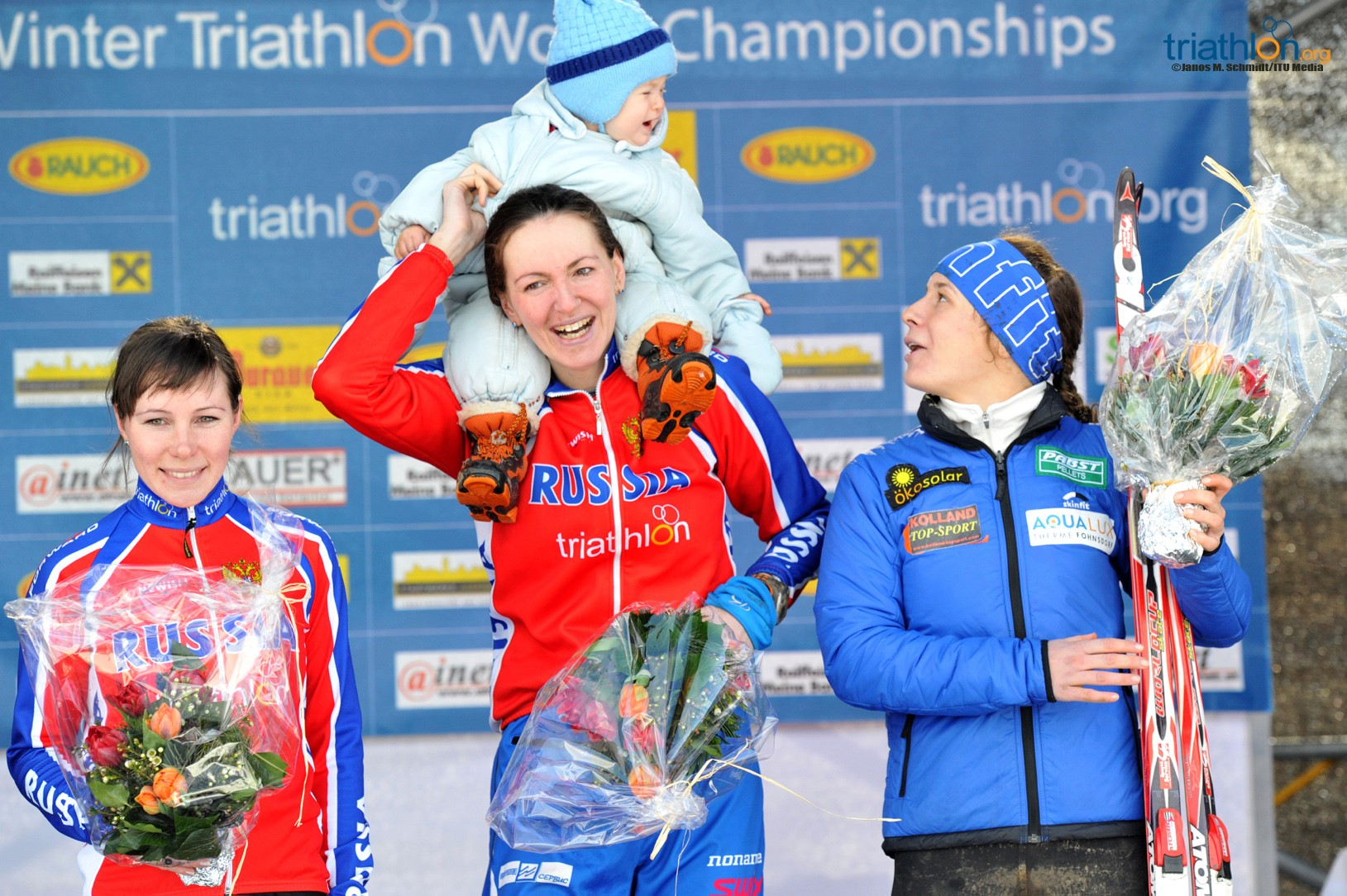 ITU Winter Triathlon World Championship Women's Podium   www.DirtTRI.com