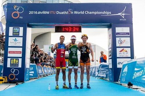 duathlon world champ podium