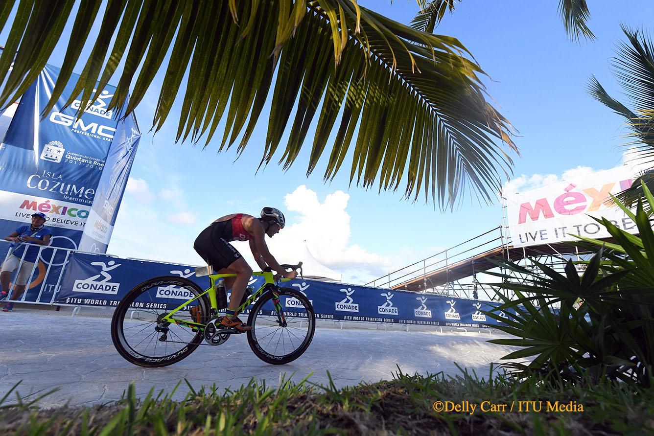 Flora Duffy biking in cozumel